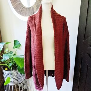🍭 Mossimo Large Maroon Open Sweater Duster